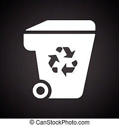 riciclare, segno, contenitore, immondizia, icona