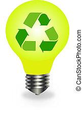 riciclare simbolo, bulbo