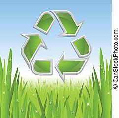 riciclare simbolo, icona