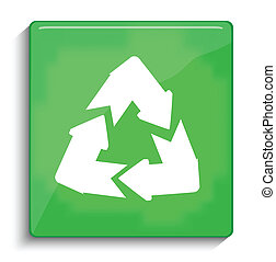 riciclare simbolo, vettore