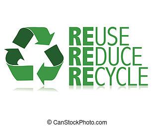 riciclare, vettore, /