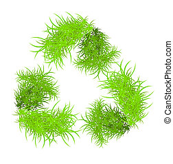 riciclare, vettore, simbolo