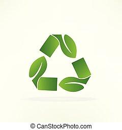 ricicli logotipo, simbolo