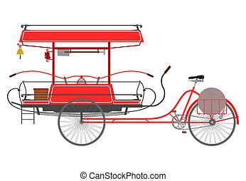 rickshaw, bombeiro