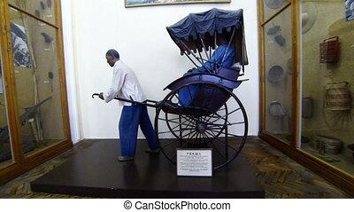 Rickshaw. Kunstkamera. Saint-Petersburg. Museum of anthropology and Ethnography.