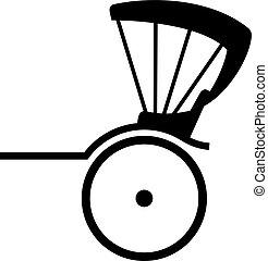 Rickshaw, shade picture