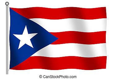 rico, bandiera, puerto