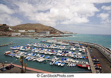 rico, canaria, babička, marina, puerto, španělsko