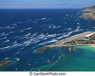 rico, festival, -, canaria, senora, babička, puerto, carmen
