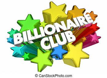 rico, obteniendo, club, billonario, ilustración, estrellas, ...