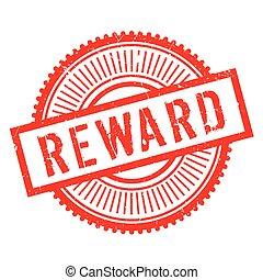 ricompensa, francobollo, gomma, grunge