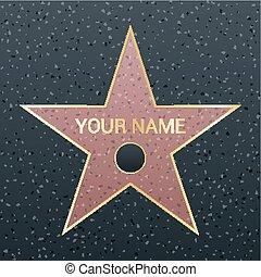 ricompensa, stella, illustration., successo, simbolo, ...