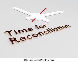riconciliazione, concetto, tempo