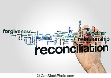riconciliazione, parola, nuvola