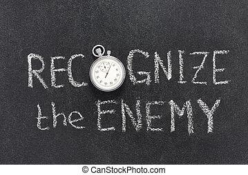 riconoscere, nemico