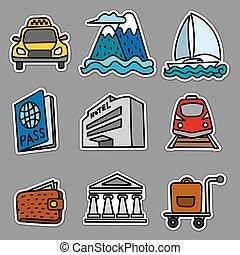 ricorso, viaggiare, adesivi