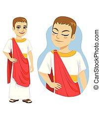 ricos, romana, patrician, cidadão