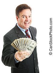 ricos, sucedido, homem negócios