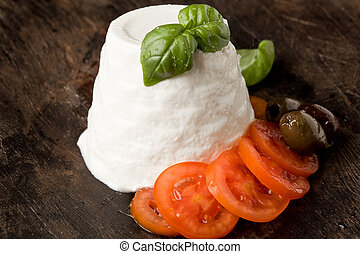 Ricotta Cheese with Tomatoes - photo of delicious ricotta...