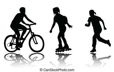 ricreazione, silhouette