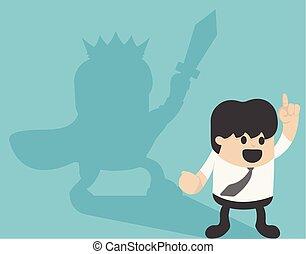 ridder, concept, handel illustratie, zakenman