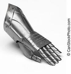 ridder, ijzer, handschoen