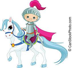 ridder, op, paarde