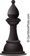 ridder, schaakspel, black , pictogram, spotprent, stijl