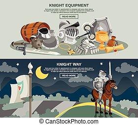 ridder, set, spandoek