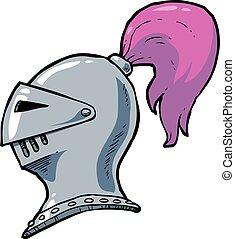 ridder, spotprent, helm
