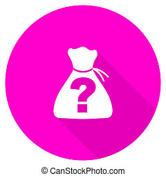 riddle flat pink icon