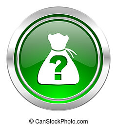 riddle icon, green button