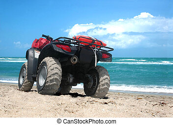 Ride along the beach - An all-terrain vehicle along the...