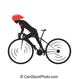 Ride bicycle design symbol. vector illustration.