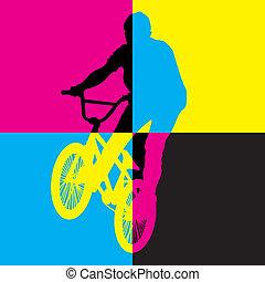 ride bicycle vector