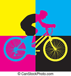 ride bike riding bicycle vector
