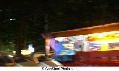 Ride on autodrome attraction at fun fair