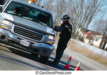 Ride program - officer checking to see if someone has been...
