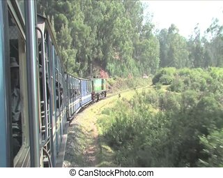 Ride the heritage stream train, India