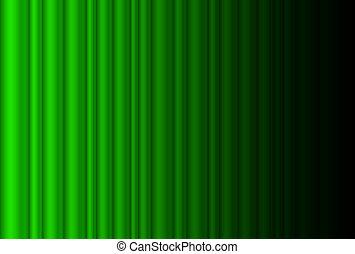 rideau, étape, vert, sombre, fragment