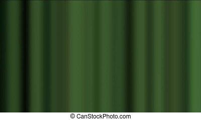 rideau, arrière-plan vert