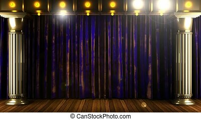rideau bleu, étape, podium