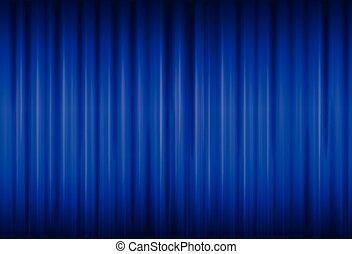 rideau bleu, fond