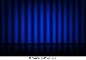 rideau bleu, théâtre, étape