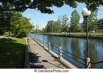 rideau, canada, canal, ottawa