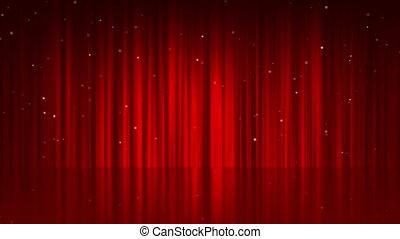 rideau, ligne, fond, rouges