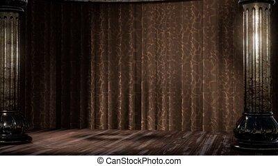 rideau, ombre, lumière étape