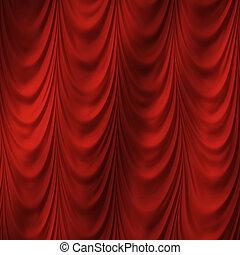 rideau rouge