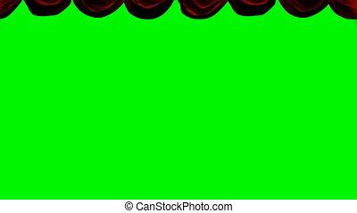rideau, rouge vert, chromakey