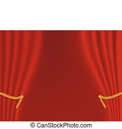 rideau, rouges, étape